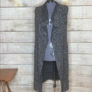 Chelsea and Theodore long open front cardigan